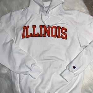 Illinois Illini white sweatshirt by Champion sz S